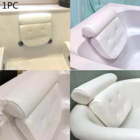 LemonBest Bantal Sandaran Bathtub SPA Pillow Cushion Neck Back Support - SPC3D - White - 5
