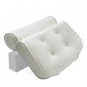 LemonBest Bantal Sandaran Bathtub SPA Pillow Cushion Neck Back Support - SPC3D - White - 6