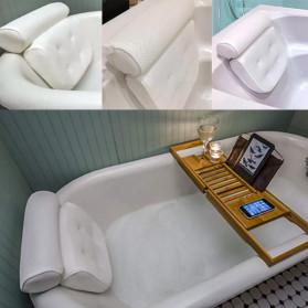 LemonBest Bantal Sandaran Bathtub SPA Pillow Cushion Neck Back Support - SPC3D - White - 7