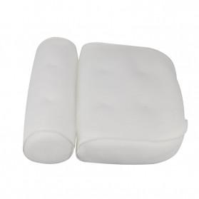 LemonBest Bantal Sandaran Bathtub SPA Pillow Cushion Neck Back Support - SPC3D - White - 8