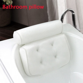 LemonBest Bantal Sandaran Bathtub SPA Pillow Cushion Neck Back Support - SPC3D - White - 9