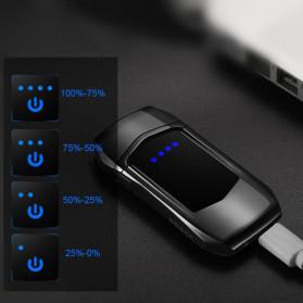 Jobon Korek Api Elektrik Heating Coil USB Lighter Finger Print - 0401 - Black - 2