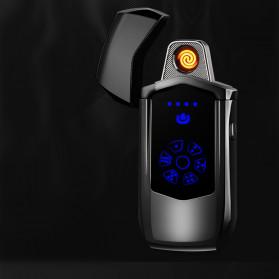Jobon Korek Api Elektrik Heating Coil USB Lighter Finger Print - 0401 - Black - 5