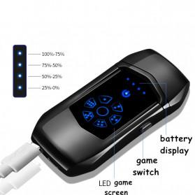Jobon Korek Api Elektrik Heating Coil USB Lighter Finger Print - 0401 - Black - 8