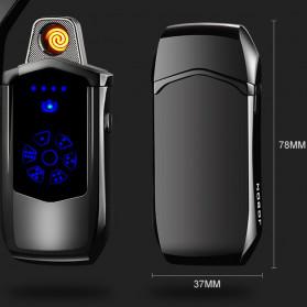 Jobon Korek Api Elektrik Heating Coil USB Lighter Finger Print - 0401 - Black - 9