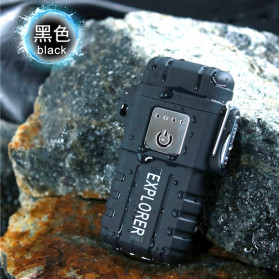 Jobon Explorer Korek Api Elektrik Plasma Arc Lighter Outdoor Waterproof - F1250 - Black