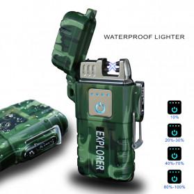 Jobon Explorer Korek Api Elektrik Plasma Arc Lighter Outdoor Waterproof - F1250 - Black - 2