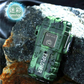 Jobon Explorer Korek Api Elektrik Plasma Arc Lighter Outdoor Waterproof - F1250 - Green