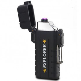 Jobon Explorer Korek Api Elektrik Plasma Arc Lighter Outdoor Waterproof - F1270 - Black