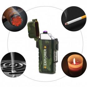 Jobon Explorer Korek Api Elektrik Plasma Arc Lighter Outdoor Waterproof - F1270 - Black - 8