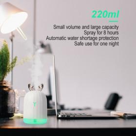 Berlato Humidifier Pelembab Udara Aromatherapy Oil Diffuser Cute Design 220ml - K-H160 - Pink - 10