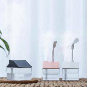 OTOKU Humidifier Pelembab Udara Aromatherapy Oil Diffuser Little House Design 250ml - K-H180 - Black - 5