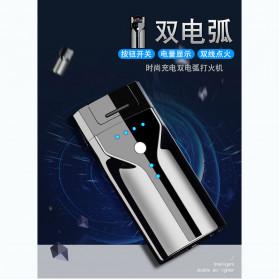 Macro Korek Api Elektrik Plasma Pulse Arc Lighter USB Rechargeable - JL308 - Metallic Black - 4