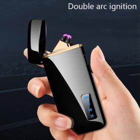 JOBON Korek Api Elektrik Pulse Plasma Arc Lighter Touch Sensor - HF-800 - Black - 3