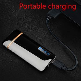 JOBON Korek Api Elektrik Pulse Plasma Arc Lighter Touch Sensor - HF-800 - Black - 7