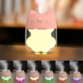 FreeOn Humidifier Pelembab Udara Aromatherapy Cat Claw Cup Design 120ml - K-H161 - Pink
