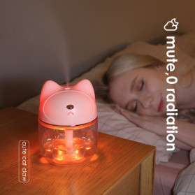 FreeOn Humidifier Pelembab Udara Aromatherapy Cat Claw Cup Design 120ml - K-H161 - Pink - 8