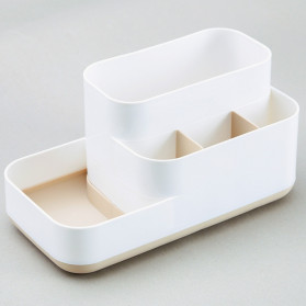 Mrosaa Kotak Make Up Organizer Penyimpanan Rak Skin Care - SBB - Gray - 2
