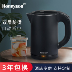 Honeyson Teko Listrik  Electric Kettle 800ML 1000W - H1268 - Black - 2