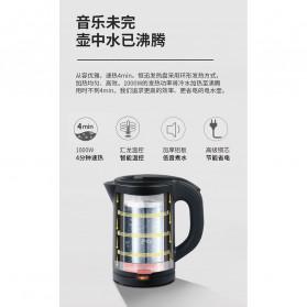 Honeyson Teko Listrik  Electric Kettle 800ML 1000W - H1268 - Black - 5