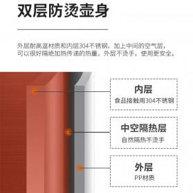 Honeyson Teko Listrik  Electric Kettle 800ML 1000W - H1268 - Black - 7