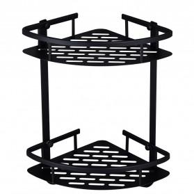 LemonBest Rak Aluminum Triangular Organizer Rack Bathroom 2 Layers - G48 - Black
