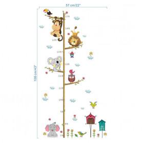 ZOOYOO Wallpaper Stiker Dinding Pengukur Tinggi Badan Anak Room Decor - HM0178 - White - 5