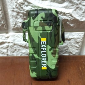 LST EXPLORER Korek Api Elektrik Pulse Plasma Double Arc USB Lighter - 27 - Camouflage