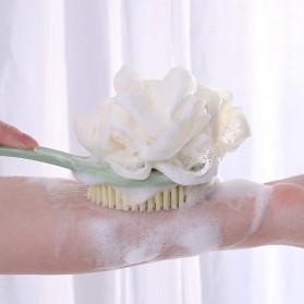 TREESMILE Sikat Mandi Bath Brush Back Rubbing with Shower Puff - LF73009 - Pink - 2