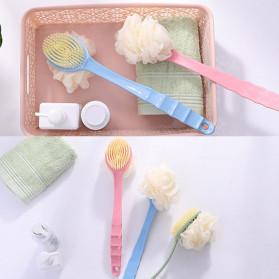 TREESMILE Sikat Mandi Bath Brush Back Rubbing with Shower Puff - LF73009 - Pink - 3