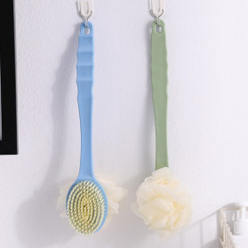 TREESMILE Sikat Mandi Bath Brush Back Rubbing with Shower Puff - LF73009 - Pink - 5