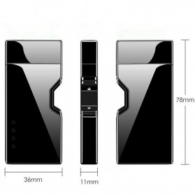 DAROBTL Korek Api Elektrik Pulse Plasma Arc Touch Sensor - JJA137 - Black - 4