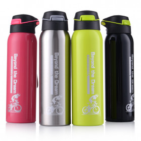 BTD Botol Minum Sepeda Thermos Bicycle Kettle Drink Bottle Stainless Steel 500ml - A1A096 - Silver - 2
