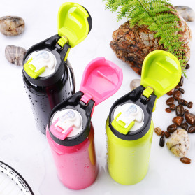 BTD Botol Minum Sepeda Thermos Bicycle Kettle Drink Bottle Stainless Steel 500ml - A1A096 - Silver - 5