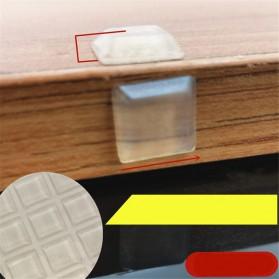 NAIERDI Sticker Silikon Bumper Peredam Benturan Trapezoid 50 PCS - FZL11 - Transparent