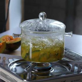 One Two Cups Pot Panci Masak Stewing Soup Pot Borosilicate Glass 15CM - YWJ-1265 - 4