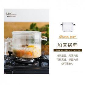 One Two Cups Pot Panci Masak Stewing Soup Pot Borosilicate Glass 15CM - YWJ-1265 - 6