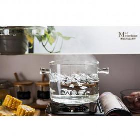 One Two Cups Pot Panci Masak Stewing Soup Pot Borosilicate Glass 15CM - YWJ-1265 - 7