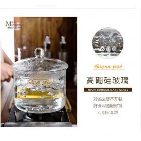 One Two Cups Pot Panci Masak Stewing Soup Pot Borosilicate Glass 15CM - YWJ-1265 - 9