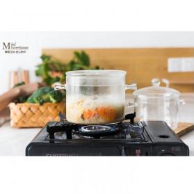 One Two Cups Pot Panci Masak Stewing Soup Pot Borosilicate Glass 15CM - YWJ-1265 - 10