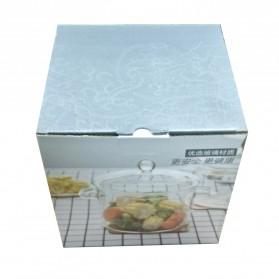 One Two Cups Pot Panci Masak Stewing Soup Pot Borosilicate Glass 15CM - YWJ-1265 - 12