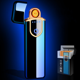 DAROBTL Korek Api Elektrik Fingerprint Touch Sensor - JL715 - Matte Black - 3