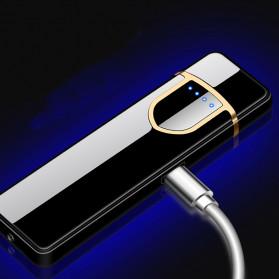 DAROBTL Korek Api Elektrik Fingerprint Touch Sensor - JL715 - Matte Black - 4