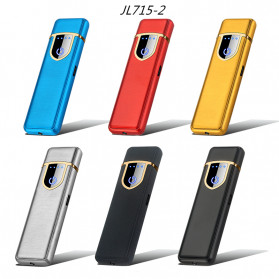 DAROBTL Korek Api Elektrik Fingerprint Touch Sensor - JL715 - Matte Black - 7