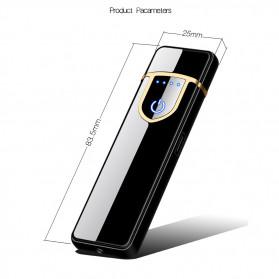 DAROBTL Korek Api Elektrik Fingerprint Touch Sensor - JL715 - Matte Black - 9
