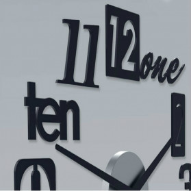 Jam Dinding 3D DIY Giant Wall Clock Quartz Creative Design 80-100cm - MRCW26-5 - Silver - 4