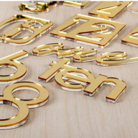 Jam Dinding 3D DIY Giant Wall Clock Quartz Creative Design 80-100cm - MRCW26-5 - Silver - 5