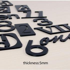 Jam Dinding 3D DIY Giant Wall Clock Quartz Creative Design 80-100cm - MRCW26-5 - Black - 6