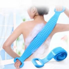 BWOHOPS Alat Bantu Mandi Sikat Gosok Punggung Silicone Scrub Back Bath Brush - BW60 - Pink - 7