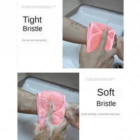 BWOHOPS Alat Bantu Mandi Sikat Gosok Punggung Silicone Scrub Back Bath Brush - BW60 - Pink - 11